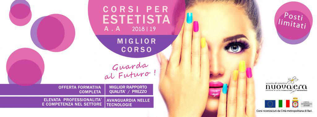 Nuovi Corsi per estetista a Bari 2018-2019
