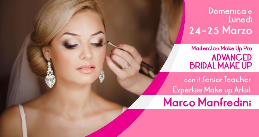2° data Masterclass trucco sposa con Marco Manfredini Make-Up Artist