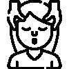 Mezzo busto donna stilizzato massaggiato da due mani