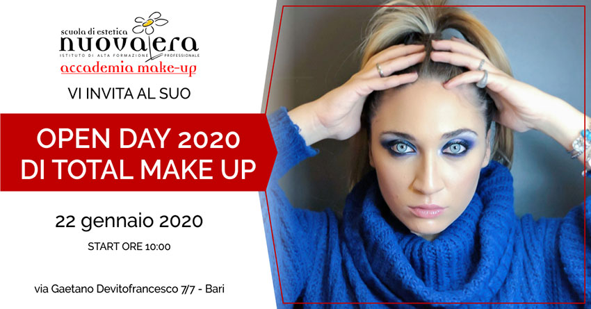 Open Day Total Make Up – 22 Gennaio