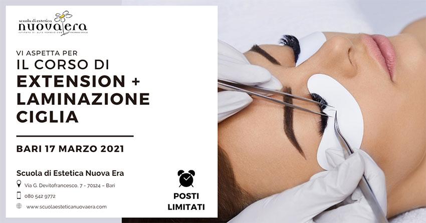 Corso di Extrension + Laminazione Ciglia – 17 marzo 2021